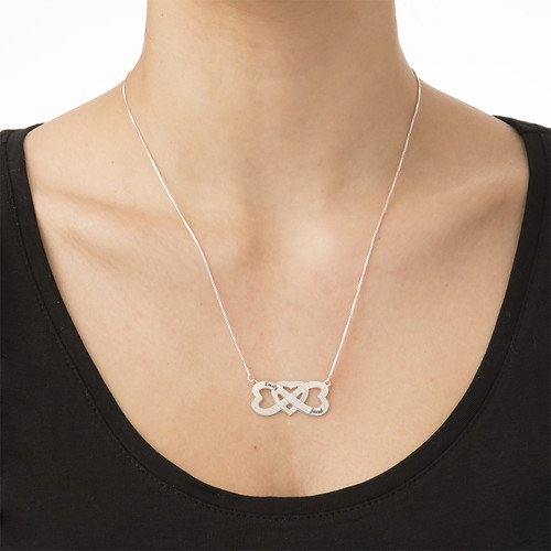 Infinity Heart Necklace with Names - 1