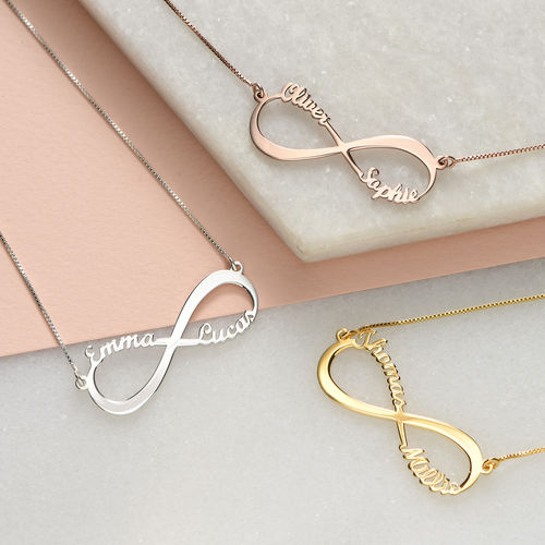 Infinity Name Necklace in 14K Yellow Gold - 2