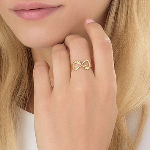 Infinity Name Ring with Gold Plating - 3