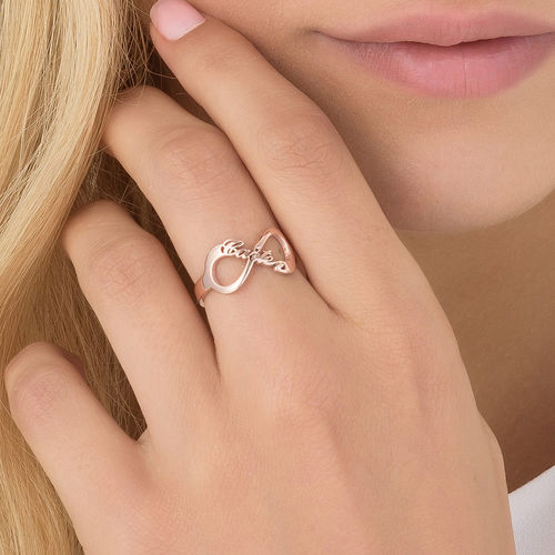 Infinity Name Ring with Rose Gold Plating - 3