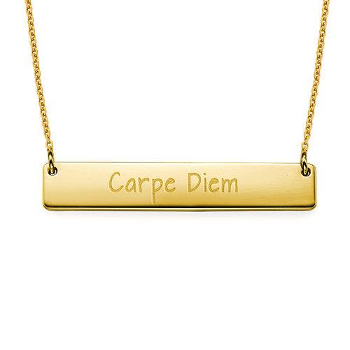 "Inspirational Jewelry - ""Carpe Diem"" Bar Necklace GP"