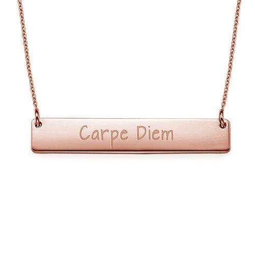 "Inspirational Jewelry - ""Carpe Diem"" Bar Necklace RGP"