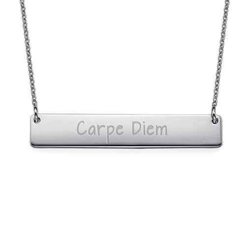 "Inspirational Jewelry - ""Carpe Diem"" Bar Necklace"