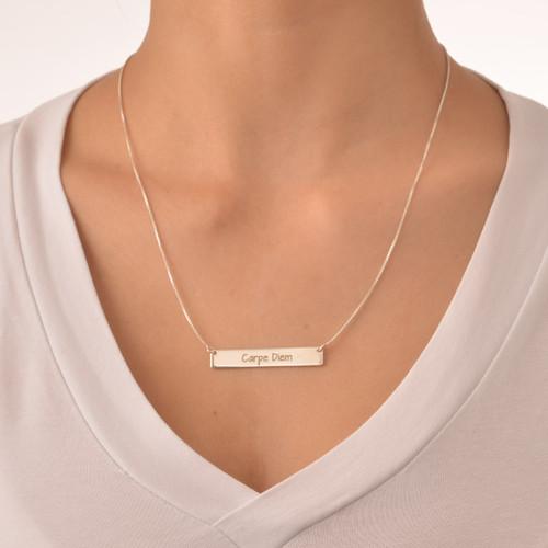 "Inspirational Jewelry - ""Carpe Diem"" Bar Necklace - 1"