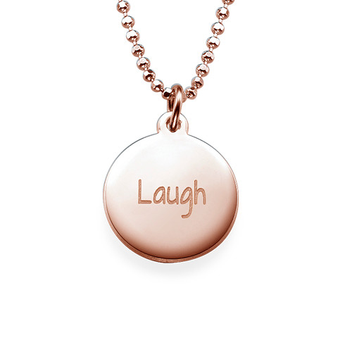 "Inspirational Jewelry - ""Laugh"" Necklace RGP"