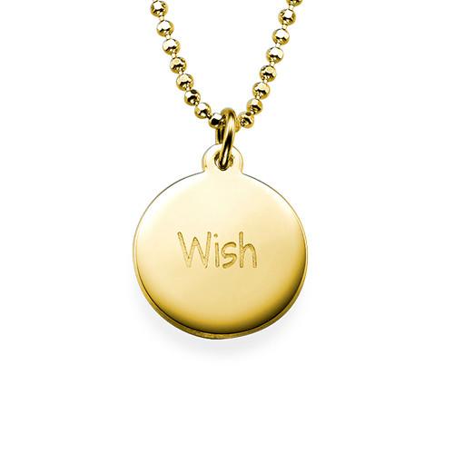 """Inspirational Jewelry - """"Wish"""" Necklace GP"""