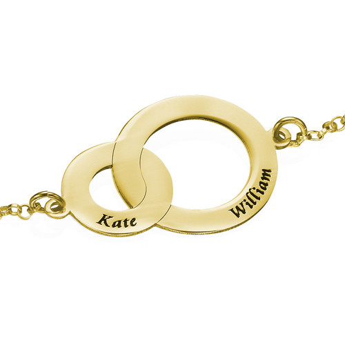 Interlocking Circles Bracelet - Gold Plated - 1