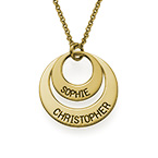 Jewelry for Moms - Disc Necklace in Gold Plating