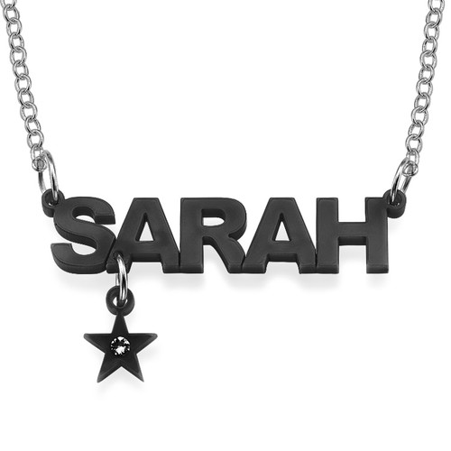 L.A. Style Color Name Necklace with your choice of charm