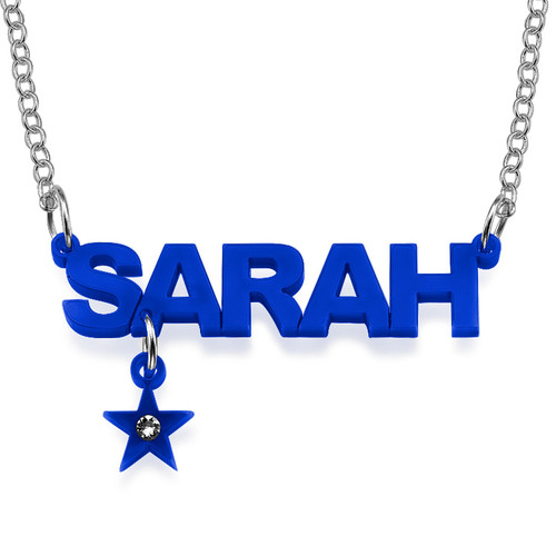 L.A. Style Color Name Necklace with your choice of charm - 1