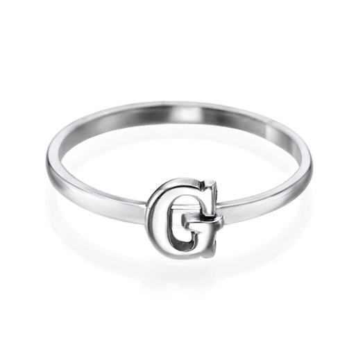 Letter Ring in Sterling Silver - 1