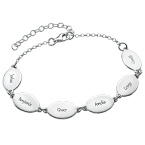 Mom Bracelet with Kids Names - Oval Design