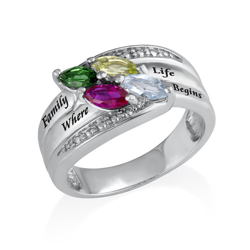 Mother Ring with Birthstones - 2