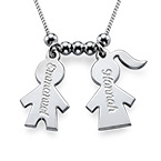 Mothers Jewelry - Necklace with Kids Charms