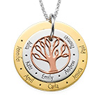 Multi-Tone Family Tree Necklace for Moms