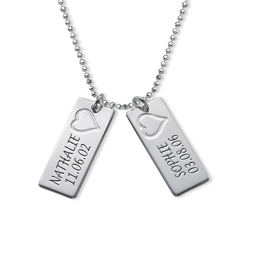 Name Bar Necklace in Silver - 2