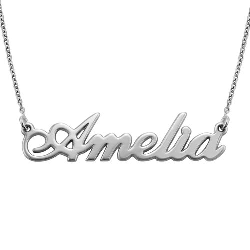 Sterling Silver Classic Name Necklace - 1