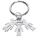 Personalized Keychain with Children Charms