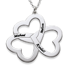 Personalized 3 Heart Necklace