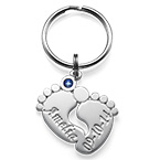 Personalized Baby Feet Keychain
