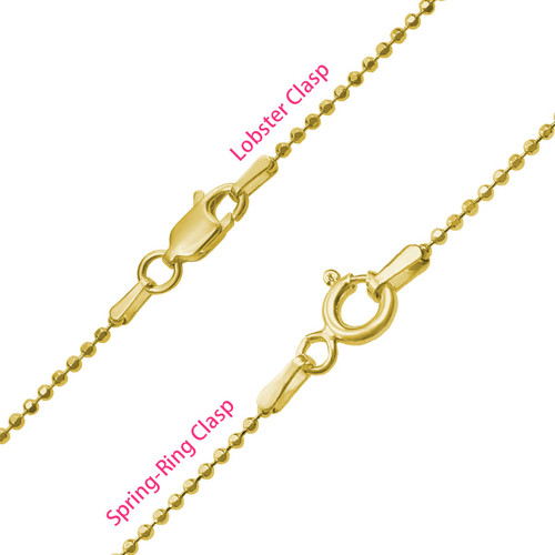 Personalized Baby Feet Necklace in Gold Plating - 4