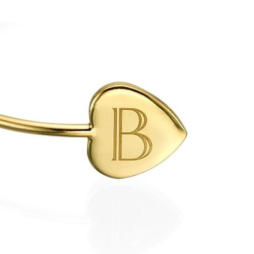 Personalized Bangle Bracelet in Gold Plating - Adjustable - 1