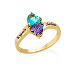 Personalized Birthstone Ring with Gold Plating