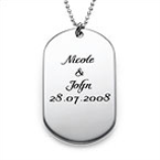 Personalized Dog Tag Necklace in Silver – Script