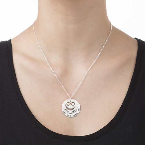Personalized Family Necklace with Infinity Symbol - 2