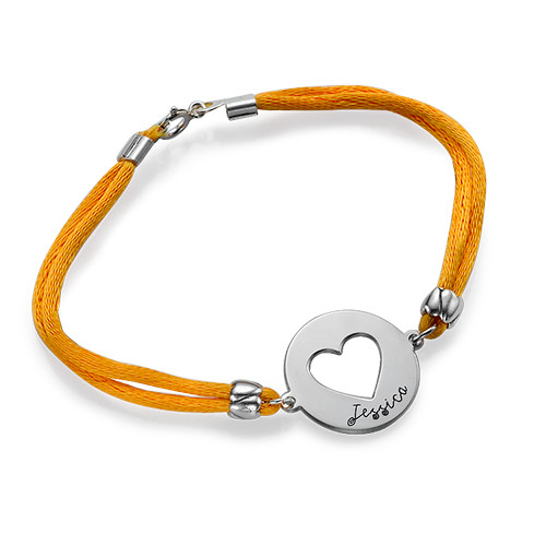 Personalized Heart Bracelet in Silver