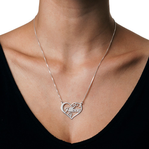 Personalized Heart Name Necklace - 1
