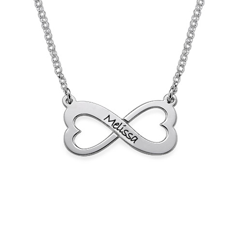 Personalized Infinity Heart Necklace