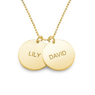 Personalized Jewelry – Gold Plated Disc Necklace
