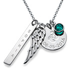 Personalized Mom Charm Necklace