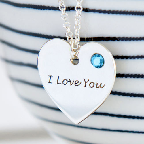 Personalized Swarovski Heart Necklace - 1