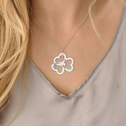 Personalized Triple Heart Necklace - 3