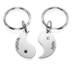 Personalized Yin Yang Keychain for Couples