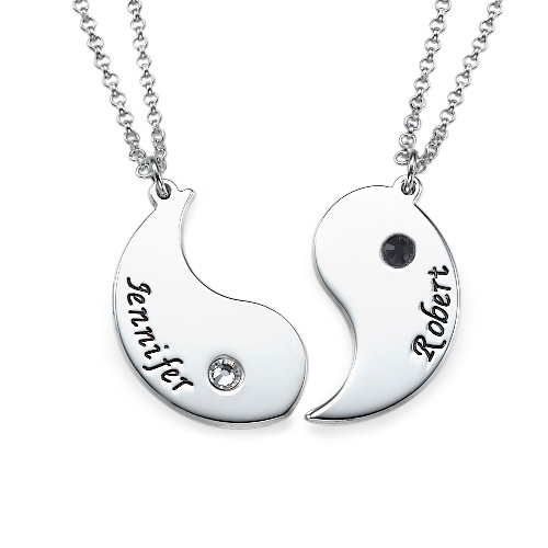 Personalized Yin Yang Necklace for Couples