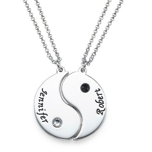Personalized Yin Yang Necklace for Couples - 1