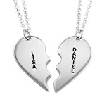 Personalized Sterling Silver Breakable Heart necklace