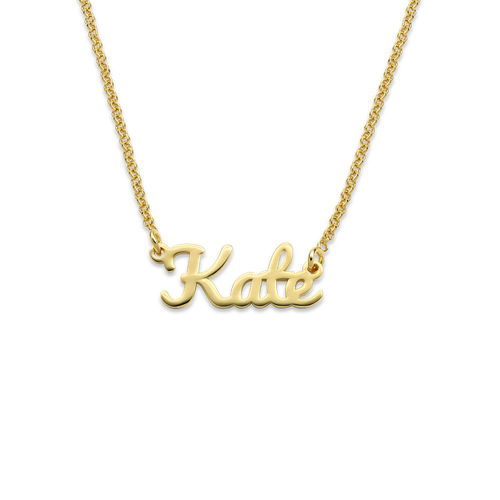 Script Name Necklace with 18K Gold Plating - 1