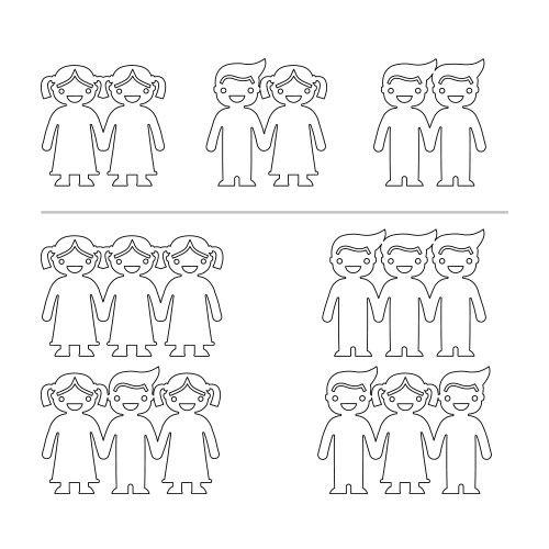 Silver Kids Holding Hands Charms Bracelet - 4