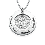 Silver Family Tree Necklace