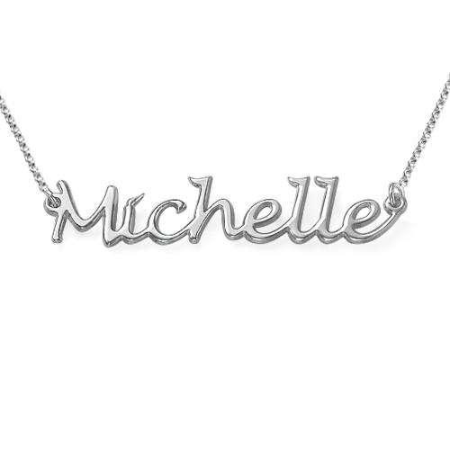 Sterling Silver Handwritten Name Necklace