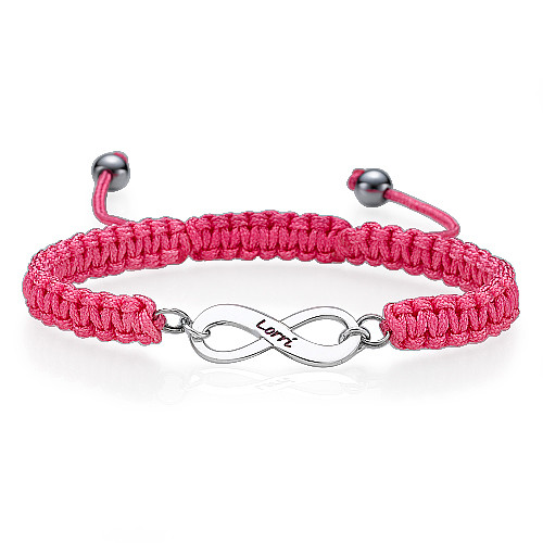 Black Infinity Friendship Bracelet - 2