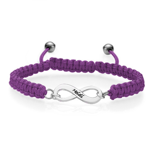 Black Infinity Friendship Bracelet - 3