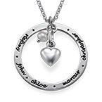 Silver Personalized Mothers Jewelry