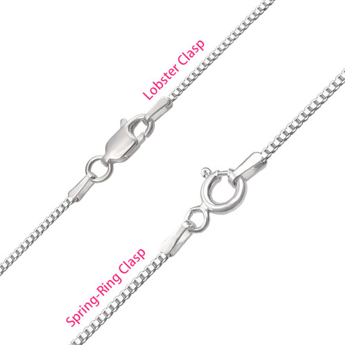 Silver Script Name Necklace - 2