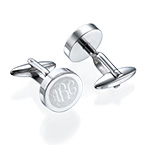 Stainless Steel Monogram Cufflinks