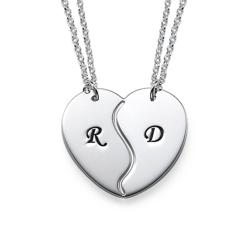 Sterling Silver Breakable Heart Necklaces